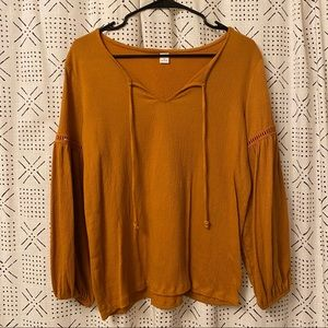 Old Navy Bell Sleeve Peasant Blouse